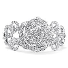 Rhinestone Bangle Bridal Bracelet