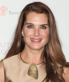 Brooke Shields Hairstyle - Long Straight Casual - Medium Brunette. Click on the image to try on this hairstyle and view styling steps!