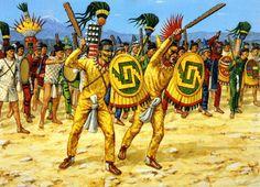 """Primera línea de batalla azteca, 1500"", Adam Hook"