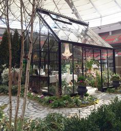 From the garden fair BC Home  Garden Show in Vancouver in early March. A black painted Cape Cod by BC Greenhouse, was part of the installation The Conservatory Garden which won first prize! http://garden-greenhouse.se