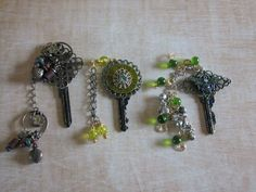 Embellished Altered Keys This Tutorial is about altering ordinary discarded house and car keys These Embellished Altered Keys are fabulous to use for your scrapbook pages, altered books, collages and mixed media projects. Lovely embellishments to add on book and journal covers, even as new jewelry pieces! Dig through your junk drawer, your jewelry boxes and visit your local thrift shops and garag...