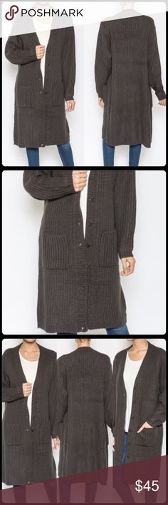 ✨🆕 JENNIFER CARDIGAN✨ Brand new. Never worn. Beautiful charcoal color. Celebrity trend for fall. Oversized cardigan! Made of cotton material. Timing Sweaters Cardigans