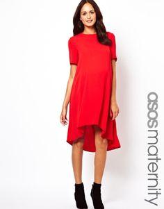 Swing Dress with Dipped Hem. $53 (reg$75) (Get $15-50 off w min purchase.) #MaternityFashion