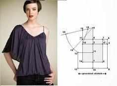 """Résultat de recherche d'images pour """"patrones de blusas"""""""