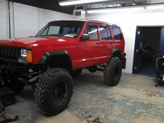 My husbands Lifted jeep cherokee