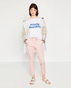 Image 1 of CROPPED DARTED TROUSERS from Zara