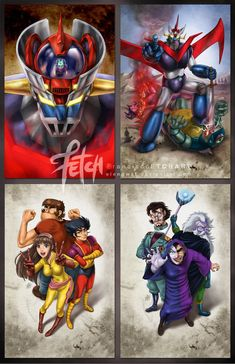 Fan art based on copyrighted material created in a manga or anime style. Anime Mech, Animé Fan Art, Z Cards, Robot Cartoon, Japanese Superheroes, Cool Robots, Super Robot, Fantasy Movies, Art Base
