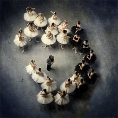 Ballet | Mark Olic | amazing image | backstage stage dancers | ballerinas | listen | director | direction | black & white | performers | brilliant composition | bravo | birds eye view | tutu and tulle | |