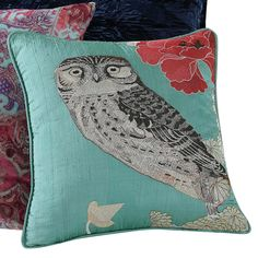 Tracy Porter Emmeline 16 x 16 Embroidered Owl Decorative Pillow - PQW1772DP3-1100