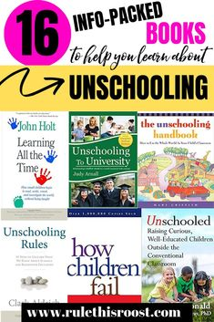 This list of unschooling books will help you learn a ton about this popular homeschooling method. If you are interested in unschooling, or just need more inspiration, check out these books on child-led learning and unschooling! Homeschool Books, How To Start Homeschooling, Homeschool Curriculum, Homeschooling Resources, Learning Activities, Kids Learning, Learning Styles, Stem Activities, Teaching Ideas
