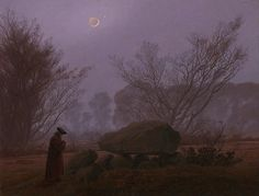 A Walk At Dusk Print by Caspar David Friedrich.  All prints are professionally printed, packaged, and shipped within 3 - 4 business days. Choose from multiple sizes and hundreds of frame and mat options.