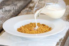 Homemade Grape Nuts Cereal Recipe - Paleo, Grain Free, GAPs, Primal Gluten Free...from Deliciously Organic  Ingredients: 2 cups almond flour 2 tablespoons coconut flour 1/2 teaspoon baking soda 1/4 teaspoon Celtic sea salt 1 cup coconut milk 3 tablespoons honey 1 teaspoon vanilla