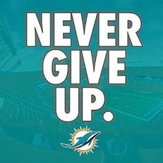 Never Give Up Miami Dolphins