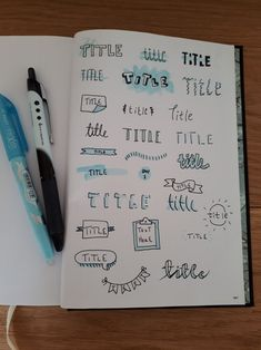 Bullet Journal 101 – Get started with bullet journals Bullet Journal Headers, Bullet Journal Font, Journal Fonts, Bullet Journal Ideas Pages, Bullet Journal Spread, Bullet Journal Inspiration, Book Journal, Study Journal, Journals