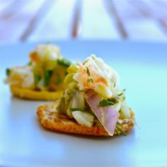 Gratefully Grain Free: Baked Plantain Chips with Shrimp Ceviche