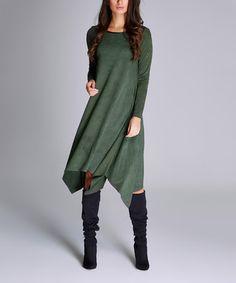 Look at this #zulilyfind! Green Handkerchief Dress #zulilyfinds