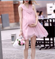 New Fashion Nursing Clothes Pregnant Women Summer Dress Maternity  Loose Cotton Nursing Dress Sleeveless Chiffon Skirt