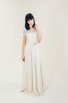 RTW Collection || E&W Couture || Jenny Satin Circle Skirt || Bridal Seperates || Alternative wedding dress
