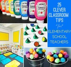 25 Clever Classroom Tips using binder clips, felt on chairs to reduce noise