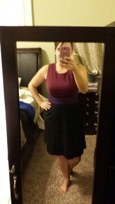 Stitchfix #3...dita color block sleeveless ponte dress (M) (to small)