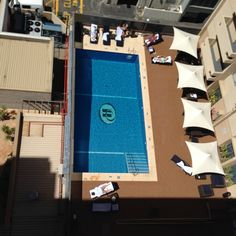Outdoor Swimming Pool at the Parmelia Hilton in Perth Outdoor Swimming Pool, Swimming Pools, Australia Hotels, Hotel Reviews, Western Australia, Perth, Basketball Court, Outdoor Pool, Swiming Pool