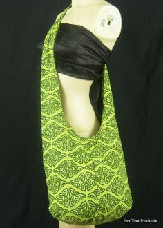 SALE Cotton Sling Crossbody Bag Purse Celtic by BenThaiProducts, $8.50