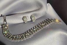 Vintage Bridal Crystal Bracelet 1950's by ButterflyEffectInc, $55.00