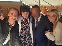 """Me, Sean Murray, Rocky Carroll, and Emily Wickersham in the LAST shot of NCIS Season 12! Wrap!"""