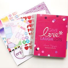 """""""Woohoo!! My new Valentine's Day covers from @erincondren came in!! I figure since February is this Sunday, it's totally justified for me to use this cover…"""" Organizing, Organization, Erin Condren Life Planner, Planner Ideas, Notebooks, Planners, Valentines Day, February, Bucket"""