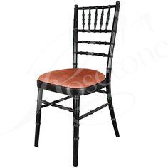 Black Chiavari Wedding Chair with Baby Pink Seat Pad