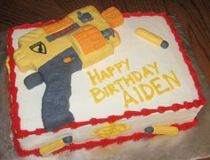 Pin Coolest Nerf Gun Cake 4 On Pinterest