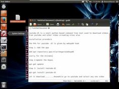 How To Download #Youtube videos On Ubuntu / Linuxmint using Terminal #linux Latest Technology Gadgets, List Of Websites, Linux, Math, Pretzel, Programming, Videos, Youtube, Math Resources