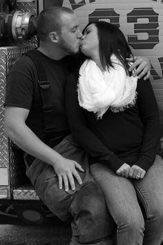 @Sharpshooters Photography LLC  ; engagement photos; firefighter engagement Firefighter Engagement, Engagement Pictures, Picture Ideas, Photo Ideas, Firefighter Pictures, Fire Department, Photo Shoot, Wedding Photos, Dream Wedding