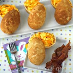 Hungry Happenings: Hollow 3-D Crescent Roll Easter Eggs filled with Scrambled Eggs