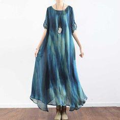 A-Line Irregular Gradient Dress