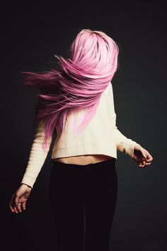i want pink hair when i move to a tropical island!