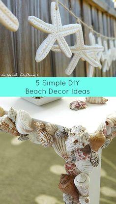 5 Simple DIY Beach Decor Ideas http://thedesperatecraftwives.blogspot.com/2011/11/salt-dough-starfish-garland.html