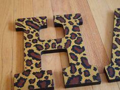 Leopard Print Letters. $12.00, via Etsy.