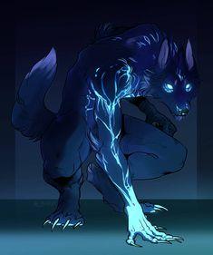 New Drawing Anime Wolf Shadows Ideas Fantasy Wolf, Fantasy Beasts, Dark Fantasy Art, Mythical Creatures Art, Mythological Creatures, Magical Creatures, Anime Wolf, Creature Concept Art, Creature Design