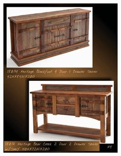 Green Gables Heritage Designs Designs; Barnwood  Server;  Rustic, Cabin, Lodge, Western, Southwest Furniture; The Refuge Lifestyle