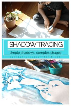 I love this shadow drawing experience because it can be as simple or as complex as you choose. Artists of any age can sink into this activity that only requires pencil and paper but hits on some big ideas! If you've got more time add some color to the neg Shadow Drawing, Shadow Art, Shadow Painting, Space Painting, Dot Painting, Middle School Art, Art School, High School, Arte Elemental