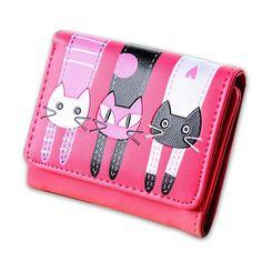 929a3401ee8 Cute Triple Cat Leather Wallet! Cat Wallet, Cat Women, Card Holders, Cat.  Poochnkitty
