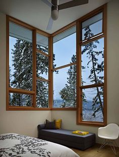 North Lake Wenatchee House Design by DeForest Architects - Architecture & Interior Design Ideas and Online Archives Beautiful Interiors, Beautiful Homes, Cabin Design, House Design, Window Grill Design, Interior And Exterior, Interior Design, Cottage In The Woods, Indian Homes