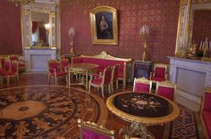 Victorian Parlor with gold accents Victorian Parlor, St Petersburg Russia, Hermitage Museum, Red Rooms, Imperial Russia, Wooden House, Saints, Mansions, Home
