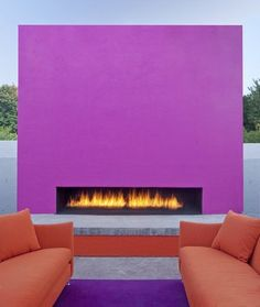 The best place for bold color? Outside! Make sure it matches the scenery though.