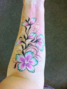 Anita Lynn Arm Grandma Tattoos, Tattoo Colors, Leg Art, White Ink, Face And Body, Painting Inspiration, Body Painting, Flower Designs, Tatoos