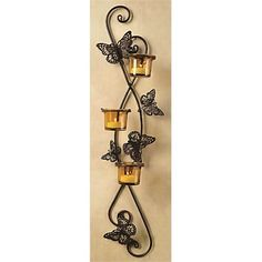 Candles & Candle Holders - Briscoes - Candle Holder Butterfly Wall Sconce Butterfly Wall, White Paints, Painting On Wood, Wall Sconces, Bottle Opener, Candle Holders, Shabby Chic, Candles, Antiques