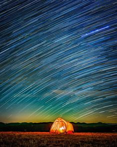 """""""Starry starry night. We setup our tent on a cold, clear evening in the Smokies and watched the stars roll by. Even though it was just past a full moon,…"""""""