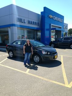 Here's Felecia Kershner with her first brand new car! She's looking great standing next to her 2014 #Chevy #Sonic! Congrats, Felecia and come back to see us!