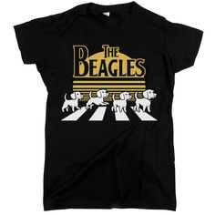 """Represent your favorite traffic-law-abiding all-dog band with this classic image bearing the familiar logo of """"The Beagles."""""""